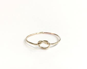 Delicate Love Knot Ring,  14k Gold Filled, Dainty Ring, Simple, Minimal