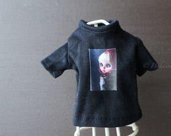 Blythe Doll Outfit /  1/6 doll size /  Customblythe print T-shirts / B-3