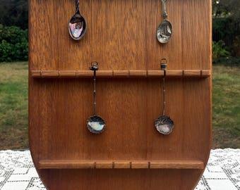 Wood Spoon Display/Souvenir Spoon Rack/Wedding Seating Rack/Escort Card Holder/Demitasse Spoon Rack/24 Spoon Holder/Wood Jewelry Display