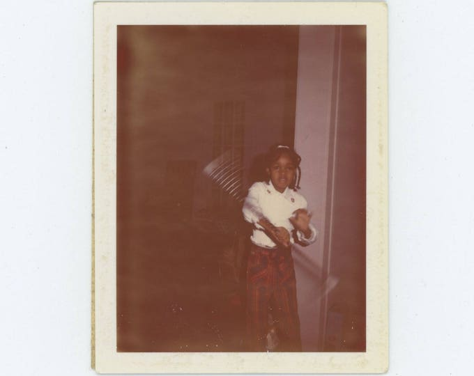 Vintage Land Polaroid Snapshot Photo: Baton Twirler (78600)