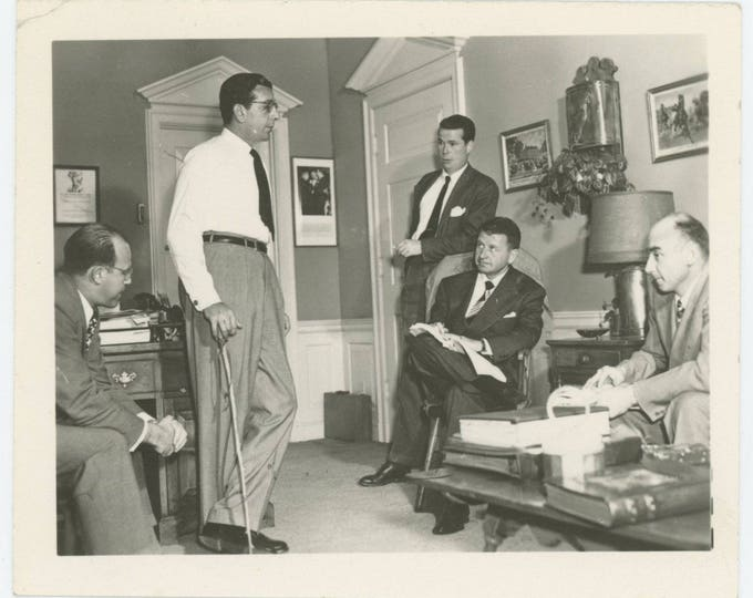 Vintage Snapshot Photo: Meeting (79605)