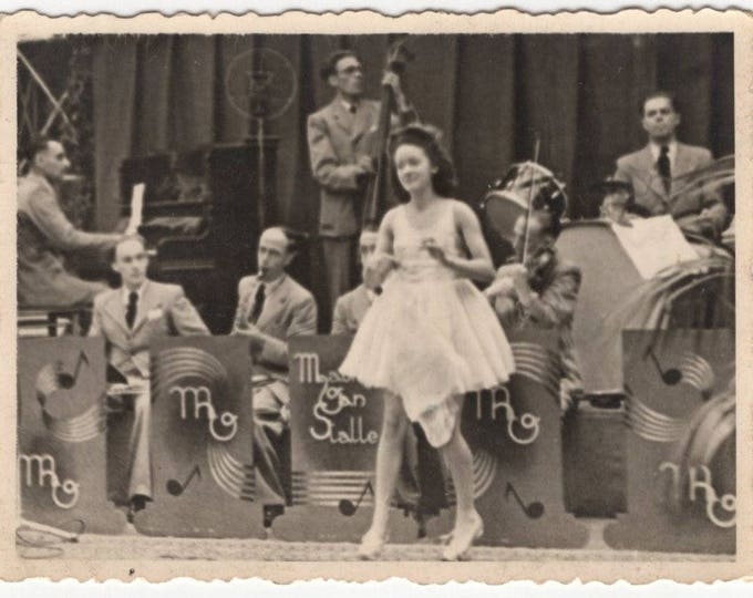 Vintage Snapshot Photo: Big Band, 1942 [81647]