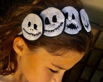 Jack Skellington headband, Nightmare before Christmas inspired