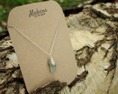 Necklace with Green Fluorite Wrapped Stone | Concentration and decision making