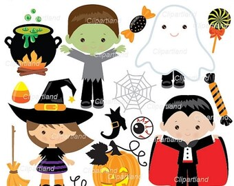 ON SALE INSTANT Download. Halloween  clip art. Ch_29. Personal and commercial use.