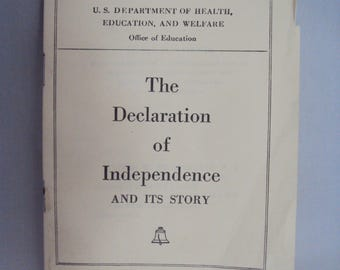 The Declaration of Independence and its story, printed 1962