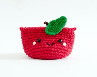 Coin purse - Crochet the Red Apple | Crochet Coin Case | Small Round Pouch | Gift for Her | Pinch.