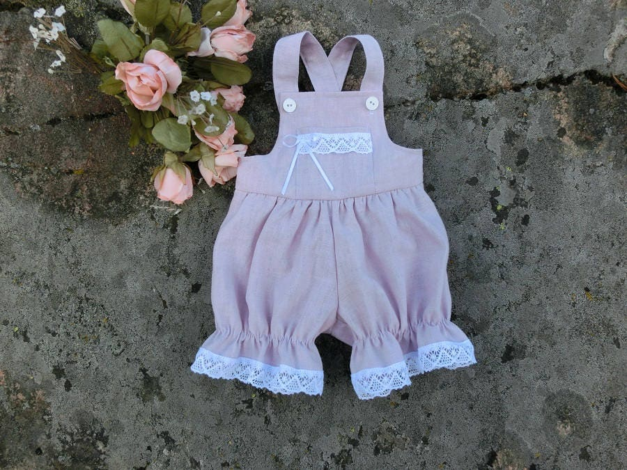 99a98149379f Baby girl romper. Baby wedding outfit. Baby girls pastel linen ...