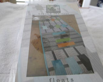 Paper Pattern for a quilt called floats by beyond the reef for a modern quilt for table, nap or sleep