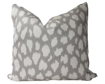 Decorative Designer, Kravet , Kate Spade, Spotted Grey Pillow Cover, 18x18, 20x20, 22x22 or Lumbar Throw Pillow