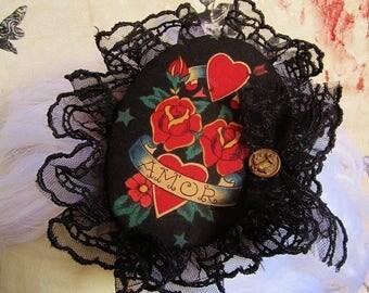Fascinator mini Hat AMOR tattoo