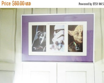 ON SALE Star Wars Trilogy Framed Art. A New Hope. The Empire Strikes Back. The Return of the Jedi.  Measures 21 x 14 inches. Star Wars Colle