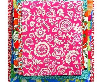 "Liberty Fabric 4"" x 4"" + 3"" x 3"" Scrap Bag Bundle Medium Bright Colours Patchwork Quilting Floral Liberty of London Cotton Tana Lawn"