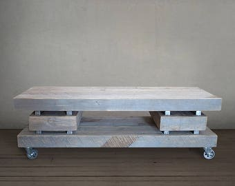 Reclaimed Wood Television Stand, Wood Media Console