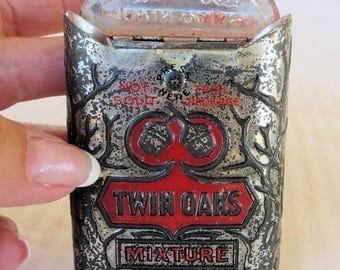 Genuine Twin Oaks Antique Tobacco Tin