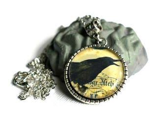Crow Necklace, Bird Necklace, Gothic Necklace, Pendant Necklace, Raven Necklace, Bird Necklace, Goth Jewellery, Black Crow, Corvus