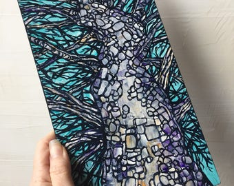 Winter Sycamore Tree Painting