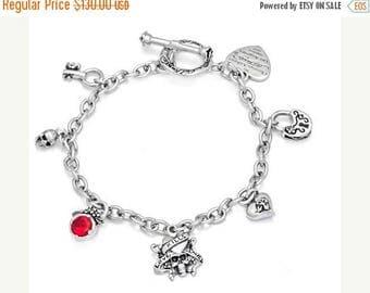 ON SALE Charm Bracelet Sterling Silver Pendants