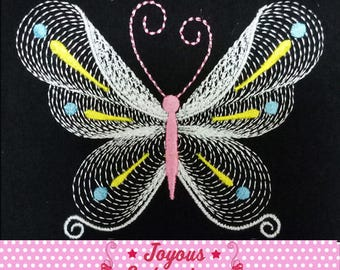 Instant Download Butterfly Plain Stitch Machine Embroidery Design NO:2395