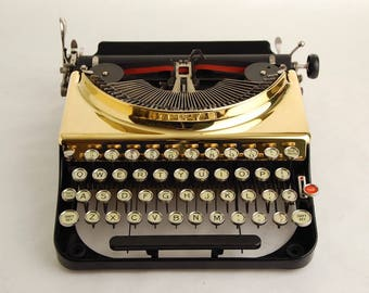 Gold Typewriter, Remington Portable 3