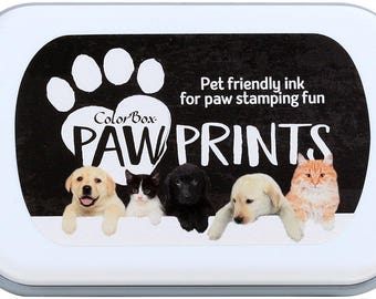 ColorBox Rubber Paw Prints Stamp Ink Pad, Rubber Stamp Ink, Stamp Pad, Stamping Ink, Inker, Pet Prints, Pet Paw Print, Dog Paw Stamp