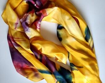 Silk handpainted 100% silk