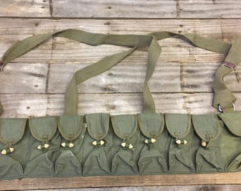 Vintage Chinese Military SKS Type 56 Semi Ammo Chest-rig Bandolier Pouch