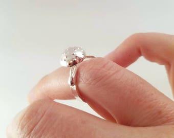 Sterling silver mushroom ring