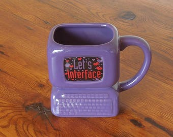 Vintage PC Computer Coffee Mug- Let's Interface