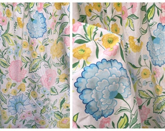 70's Wamsutta Ultracale Double Size Fitted Sheet Mixed Flowers