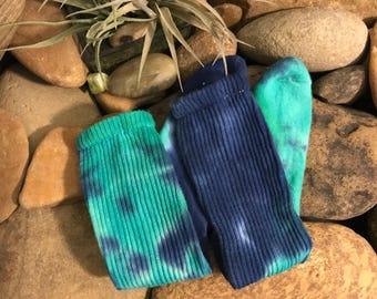 Tie Dye Socks - Size 4-10 - Crazy Socks - Gypsy - Tie Dye Clothes - Tye Dye - Blue/Turquoise- Hippie Socks - Hippie Clothes - tie dye