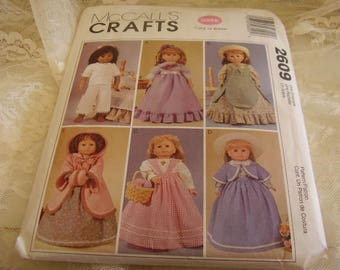 "McCall's 18"" DOLL CLOTHES PATTERN/Crafts/Sewing"