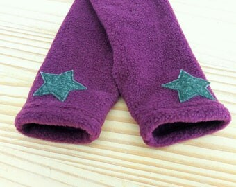 Plum star polar mitts blue/green