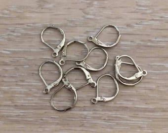 Silver Lever Back Earrings, Silver Earring Findings, Silver Ear Wires, 20 pcs