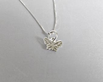 Sterling silver butterfly necklace, sterling silver, silver necklace, 925 sterling silver, layering necklace, gift for her, dainty necklace
