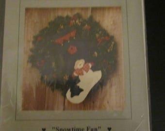 "Snowtime Fun 20"" Appliqued Stocking Pattern"