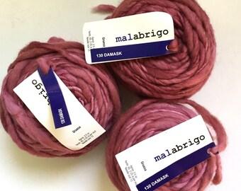 40% Off Malabrigo Gruesa Merino Wool Yarn Damask 100 grams 64 yards