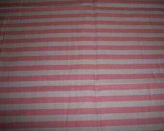 Pink and white  stripe  cotton   Toddler pillowcase