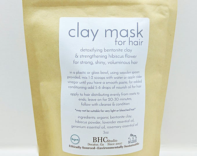 detoxifying clay mask for hair