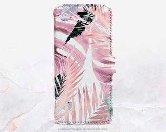 iPhone 7 Wallet Case iPhone 7 Plus Wallet Case Tropical iPhone 7 Folio Case iPhone 7 Plus Folio Case iPhone Faux Leather Wallet Case FC10