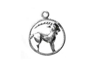 Sterling Silver Zodiac Capricorn Charm For Bracelets