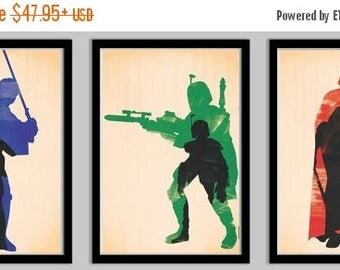 20% OFF SALE WOW Original Trilogy Paintbrush Style Poster Set