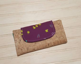 Cork + Cotton Slimline Wallet | natural cork | high quality fabrics