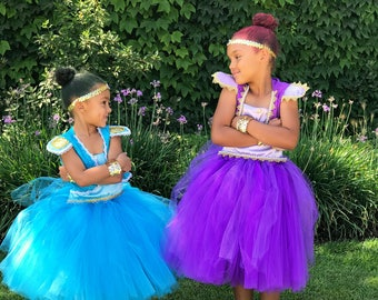 Shimmer and Shine Inspired Tutu Dress. Shimmer Costume. For Halloween, Birthday Party