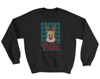 Merry Xmas ugly christmas Sweatshirt 2017 ugly xmas party
