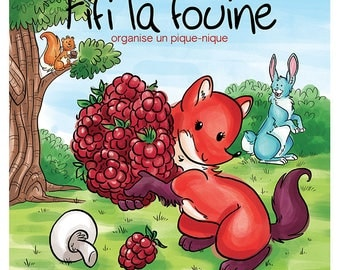 Volume 7 : Fifi la fouine organise un pique-nique, children book, children edition and collection, picnic, raspberry