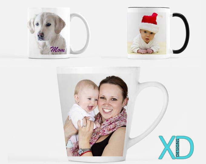 Custom Mug, Design Your Own Mug, Ceramic, 3 Style Options, Classic Mug, Latte Mug, Black & White Mug, Photo Mug, Gift Idea, Christmas Gift