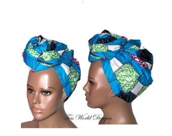 Turban wax/ Head wraps African/ Turban headwrap/ Head scarf/ head wrap/ womans headwrap/ African Head scarf/ HT189