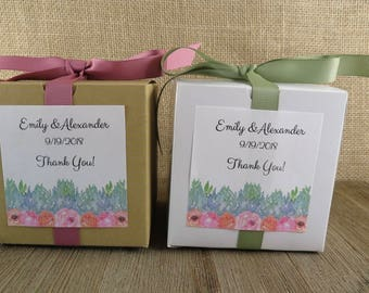 Personalized Favor Boxes or Cupcake Boxes - ANY OCCASION - Wedding Favor - Party Favor - Favor Box - Rose Garden Design