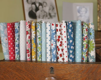 American Floral Fat Quarter Fabric Bundle of 17